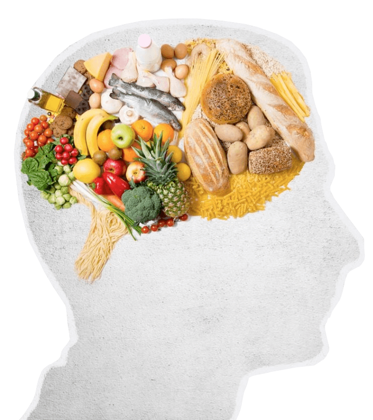 Brain filled with whole foods
